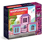 MAGFORMERS Mini House (42 Piece) Building Set, Pink/Teal/Purple