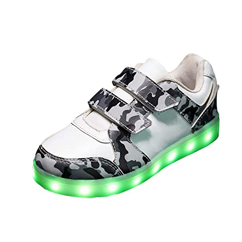 Zapatos Led Niños Niñas, 7 Color USB Carga LED Zapatillas Luces Luminosos Zapatillas Regalo de Pascua.: Amazon.es: Zapatos y complementos