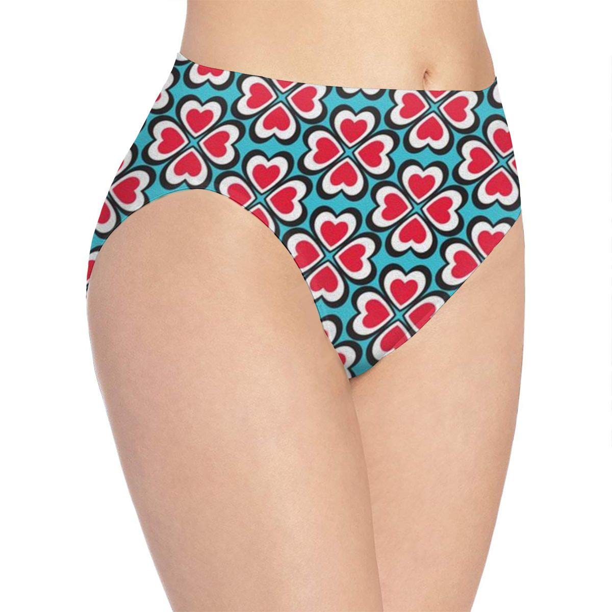 Womens Love Clover Bikini Briefs Comfy Full Coverage Underwear