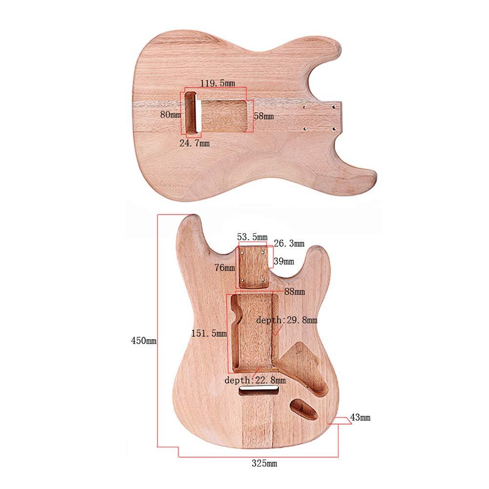 SUPVOX Accesorio de guitarra sin pintar de bricolaje sin guitarra para guitarra eléctrica ST para guitarra eléctrica ST: Amazon.es: Instrumentos musicales