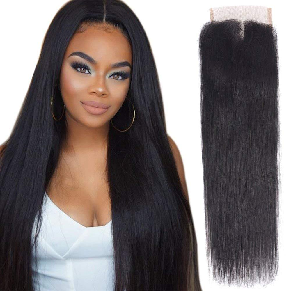 Malaysian Hair 3 Bundles With Closure Malaysian Body Wave Human Hair Bundles With Closure 4*4 Lace Middle Part Non-remy Human Hair Weaves 3/4 Bundles With Closure