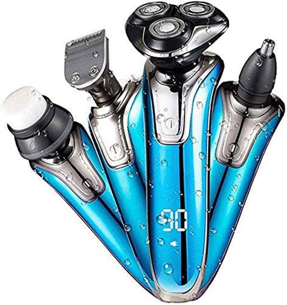 Multifuncional afeitadora afeitadora 4en1 de afeitar recargable lavado de cara máquina de afeitar eléctrica 4D inteligente Pantalla Digital máquina de afeitar ...