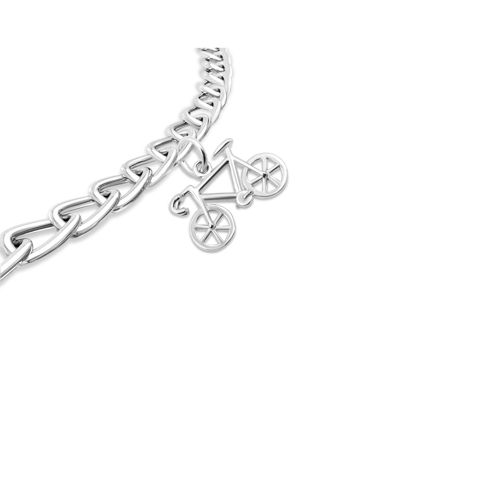 Necklace & Bracelet Charms, Sports & Fitness Theme Sterling Silver Jewelry by Silver on the Rocks by Silver on the Rocks (Image #3)