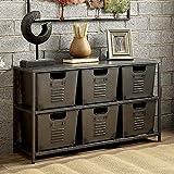 Furniture of America CM-AC523 Shreya Gunmetal Shelf Display