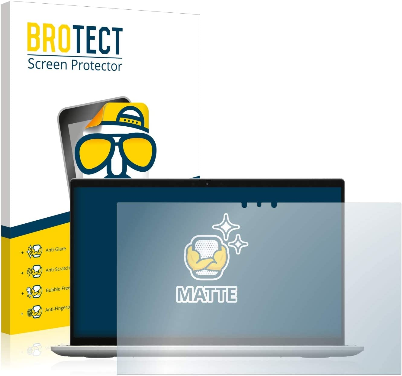 Anti-Fingerprint Protection Film brotect 1-Pack Screen Protector Anti-Glare compatible with Dell Inspiron 13 7306 Screen Protector Matte