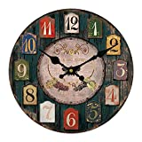 Cheap Vintage Wooden Wall Clock European Style Old Fashion Elegance Art Decor for Home Decoration (20inch)