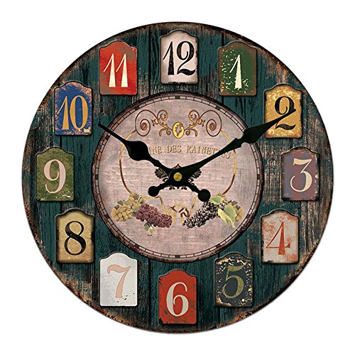 Vintage Wooden Wall Clock European Style Old Fashion