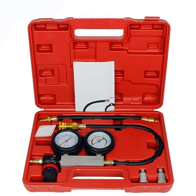 Conjunto De Prueba De Manómetro De Compresión Del Motor Kit De Herramientas Diagostáticas De Cilindro KPA Con Manual, Detector De Fugas De Cilindro Detector ...