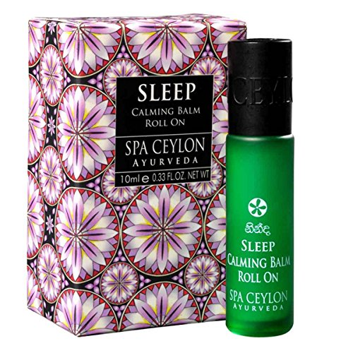 Spa Ceylon Luxury Ayurveda Sleep Calming Balm Liquid with Pure Natural Relaxing Essential Oils in Convenient Travel Friendly Roll On Applicator, 0.33 Fluid Ounces by Spa Ceylon
