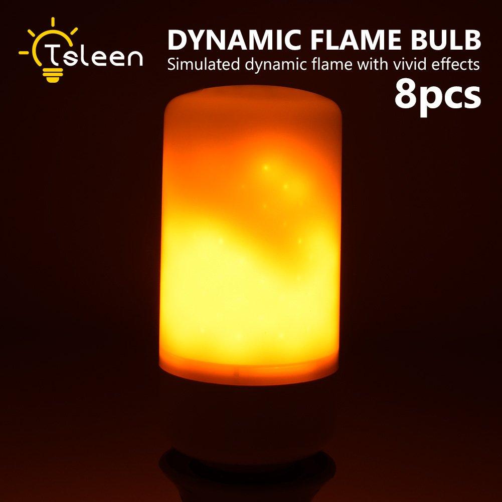 YCDC 8 xダイナミックFlame効果ライトb22 220 V LEDトウモロコシ電球教会ランタン交換 B07C3XXG1V