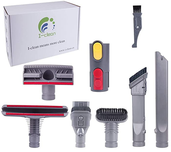 I clean Compatible Dyson V8 Absolute/ V8 Animal/ V6 Absolute/ V7 Motorhead Cord-Free Vacuum Attachments, 7 Packs Replacement Dyson Handheld Vacuum Parts for Dyson V8 V7 V6 DC58 DC59 DC61 DC62