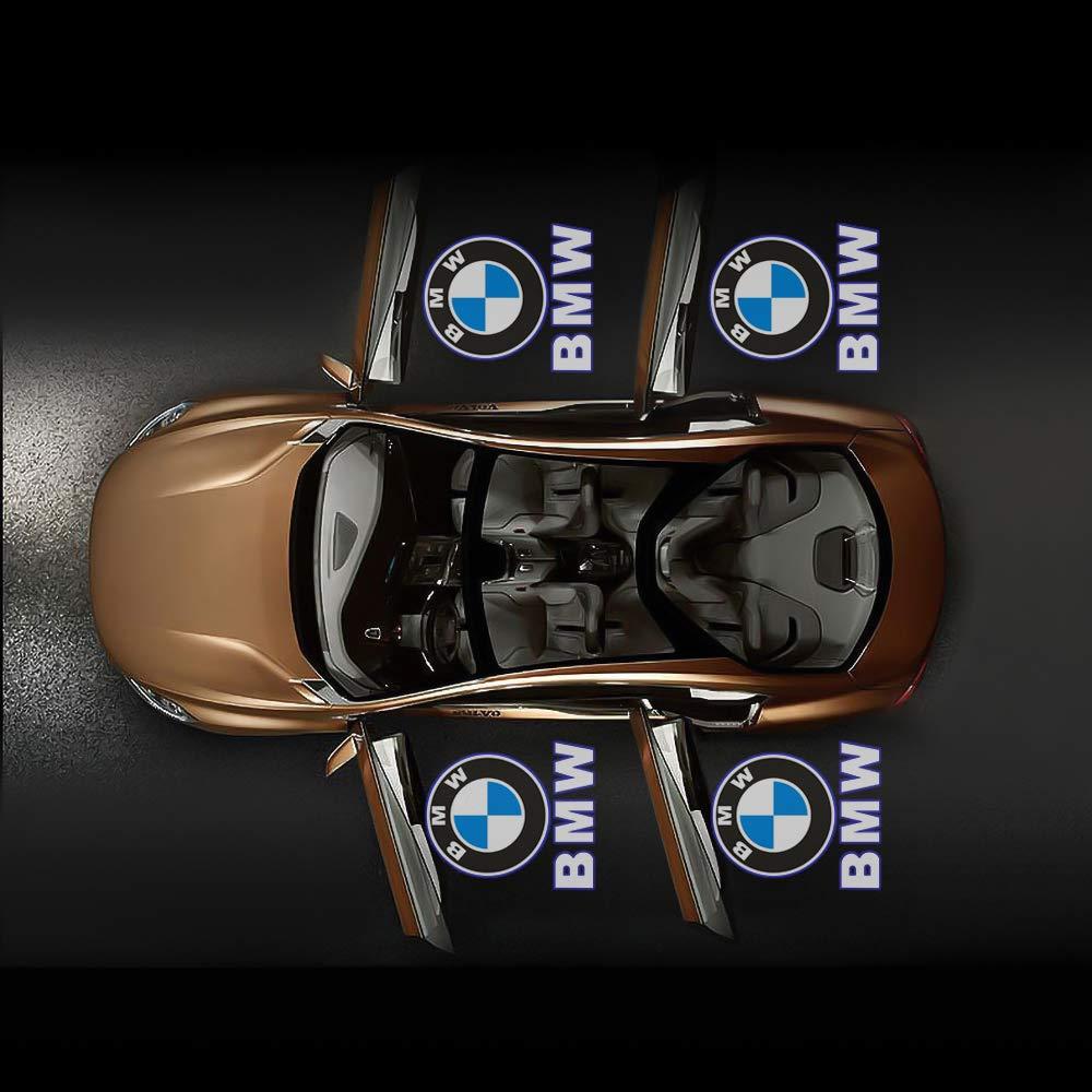 4 Pcs LED Car Ghost Shadow Welcome Lights East Installtion for BMW M 3 5 6 7 X Z GT Mini Series Car Door Light Logo Projector Lighting