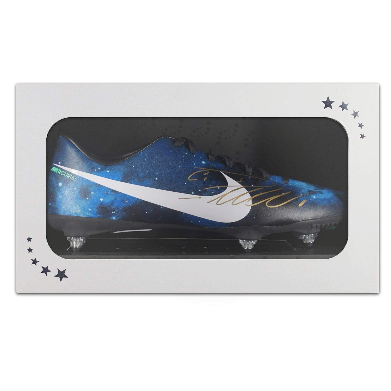 - Exclusive Memorabilia Fuszlig;ballschuh signiert von Cristiano Ronaldo. In Geschenkbox Geschenkbox  preiswert