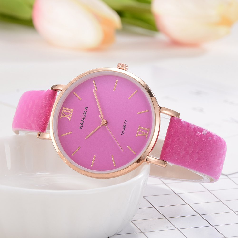 Amazon.com : qInsSZm Watches Women Fashion Simple Color Changing Roman Numbers Dial Analog Quartz Wrist Watch Purple : Sports & Outdoors