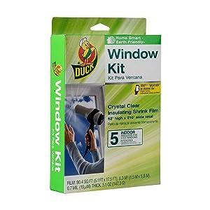 Duck Brand Indoor 5-Window Shrink Film Insulator Kit, 62-Inch x 210-Inch, 286217