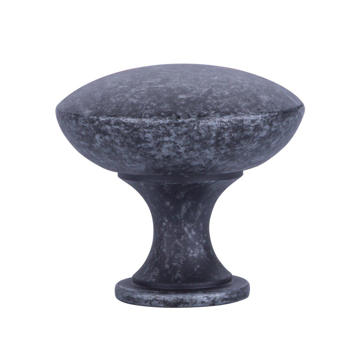 Basics Lot de 25 boutons de placard ronds Bronze huil/é Diam/ètre de 3,98 cm