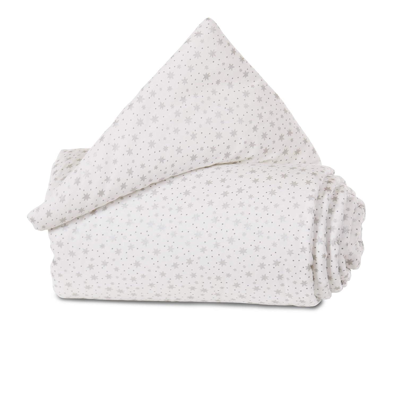 babybay Gitterschutz Organic Cotton f/ür Verschlussgitter alle Modelle wei/ß Sterne blau
