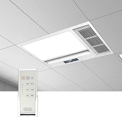 GXFC Ventilador de Calentador Hogar 4 en 1, Extractor de baño, Luz de Techo del LED, Inteligente Calentadores de Espacio, 2636W Termoventilador con Control Remoto, Fácil de Instalar: Amazon.es: Hogar