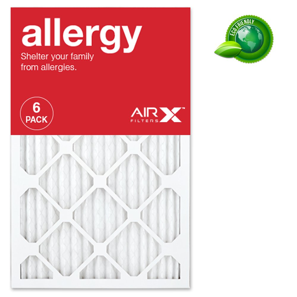 Best furnace air filters for allergies - Airx Allergy 16x25x1 Merv 11 Pleated Air Filter Made In The Usa Box Of 6 Amazon Com