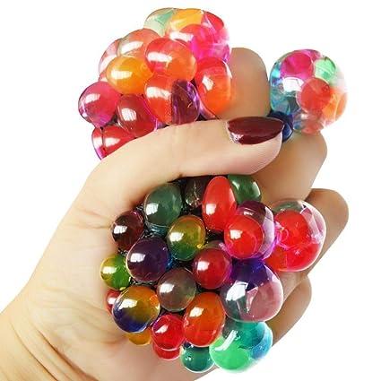 Vr Creatives Jally Balls Gel Stress Ball Fidget Sensory Gadget Autism Adhd Stress Relief Toy Mesh Squishy Ball Squeeze Grape Ball Diy Orbeez Ball Pack