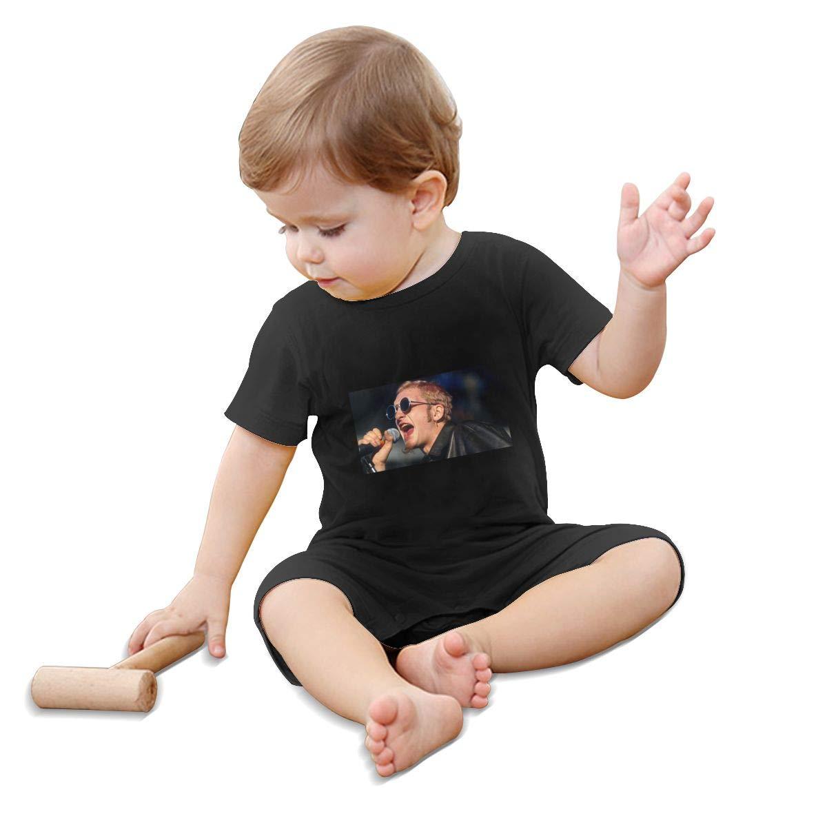 WangSiwe Layne Staley Infant Boy Girl Short Sleeve Jumpsuit Summer Outfits