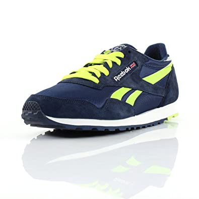 Reebok Classic Paris Runner Mens Trainers Shoe Brand New  Blue Yellow Grey White Size UK 6.5  Amazon.co.uk  Shoes   Bags a4a31ae356