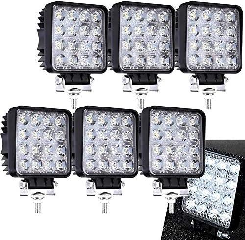 6 x 48 W Cuadrado Miracle - Reflector led luz de trabajo SUV, UTV ...