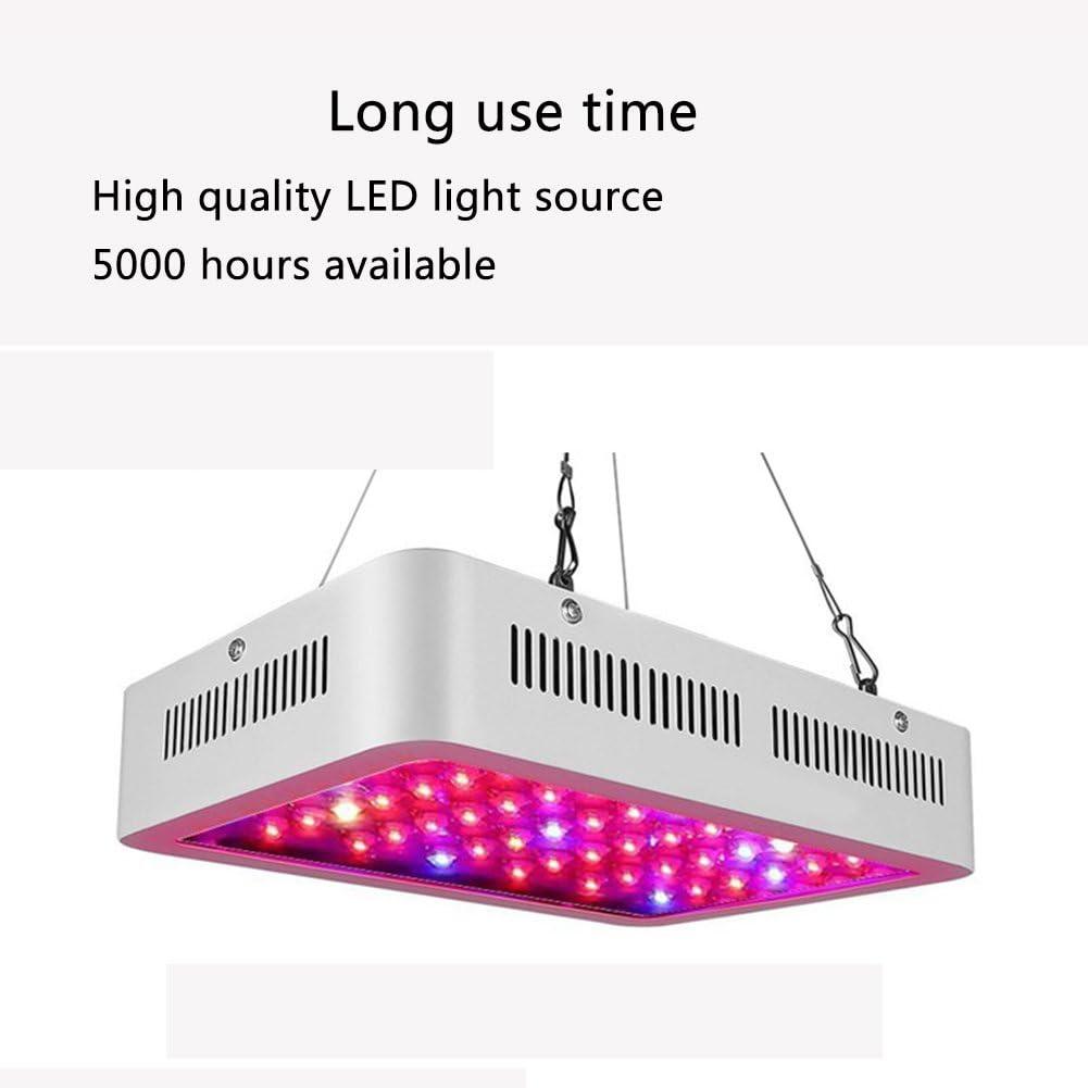 J.Memi 1200W Grow LED Pflanzenlampe Pflanzenleucht Zimmerpflanzen Lampe Wachstumslampe Ganze Spektrum UV IR Licht Optical Lens-Series Dual Chips F/ür Indoor Gem/üse Growth S/ämling Wachstum