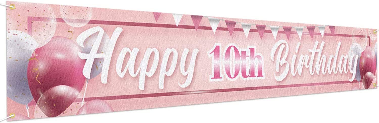 Large I am One Banner Baby 1st Birthday Party Supplies Decorations 9.8 x 1.6 ft Baby 1st Birthday Party Backdrop Black Pink Rose Gold Birthday Decorations Large Happy 1st Birthday Banner
