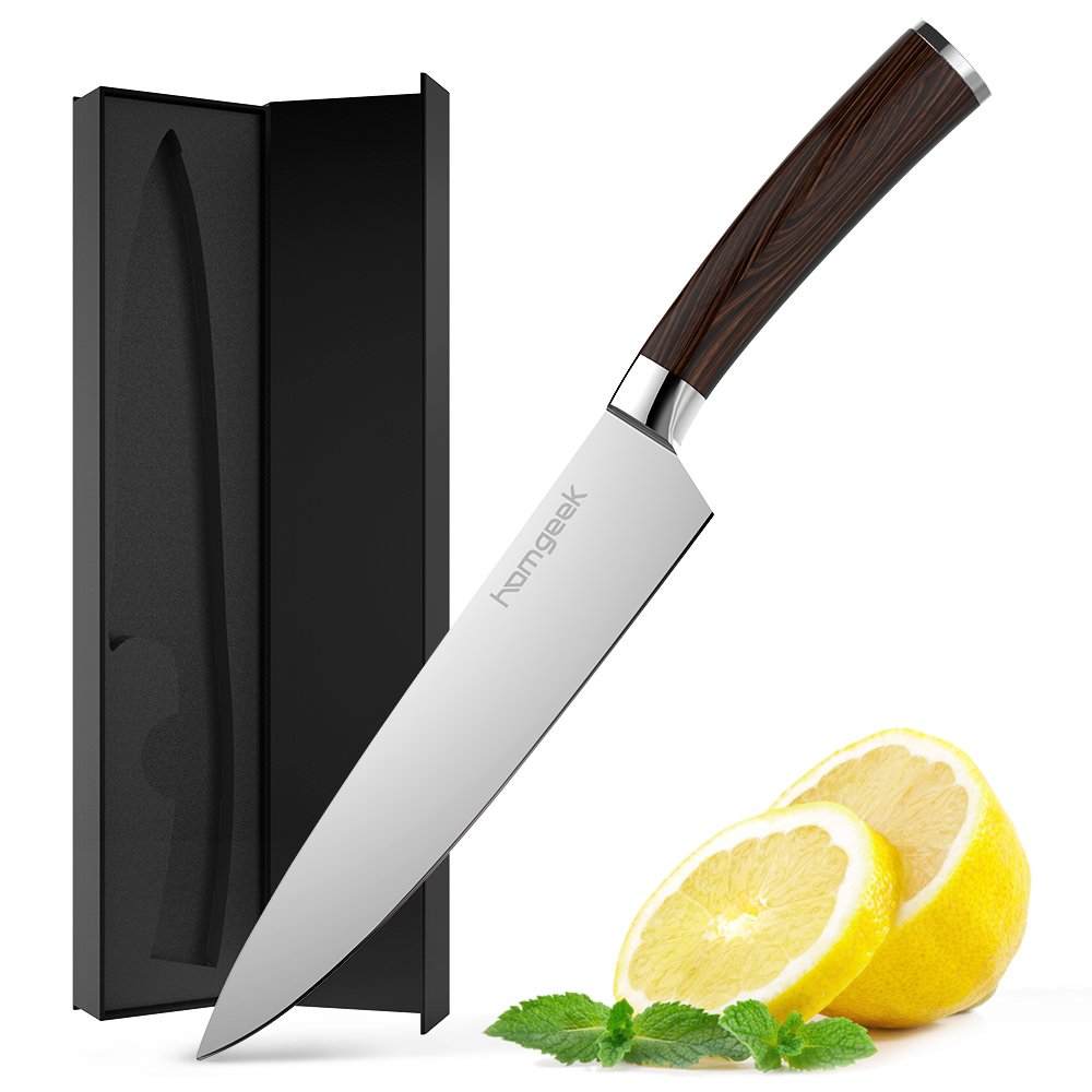 Homgeek Chef Knife,8 inch German High Carbon Stainless Steel Sharp Blade Kitchen Knife with Ergonomic Handle by Homgeek (Image #1)