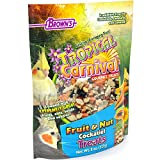 F.M. Brown's Tropical Carnival Fruit & Nut Cockatiel, Conure and Lovebird Treat with Natural Fruits, Nuts, Seeds and Veggies, 8-oz Bag - Treat Bits Designed for Small Hookbills Larger Image