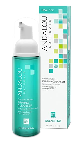 Coconut Water Firming Facial Cleanser - 5.5 fl. oz. by Andalou Naturals (pack of 1) Age Defying Face Sheet Mask - 1 Count by Karuna (pack of 3)