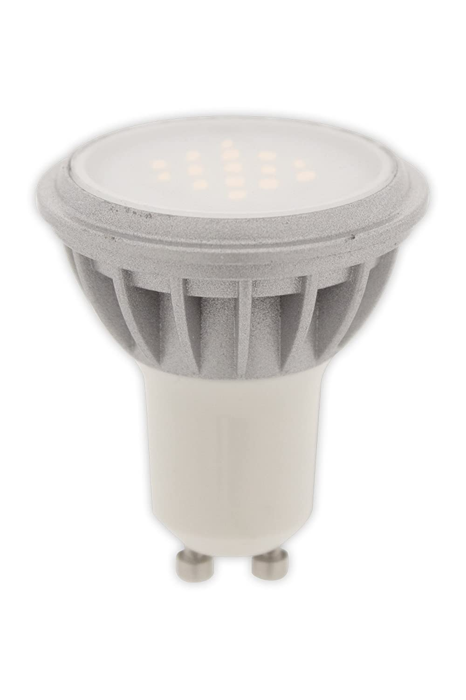 Calex - Bombilla LED SMD, GU10, 6 W, 10 unidades, intensidad graduable, color plateado: Amazon.es: Iluminación