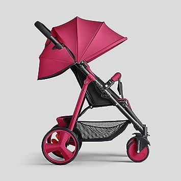 ERRU- Cochecito de bebé puede sentarse Sillas de paseo reclinables Acero ligero Mini plegable Sistemas