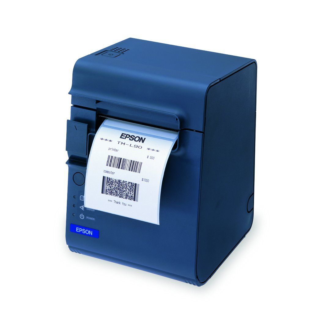 Epson C31C412A7891 TM-L90-662 Plus Thermal Label Printer for Linerless Media with Power Supply Dark Gray 80//58//40mm Spacer Serial//USB Interface