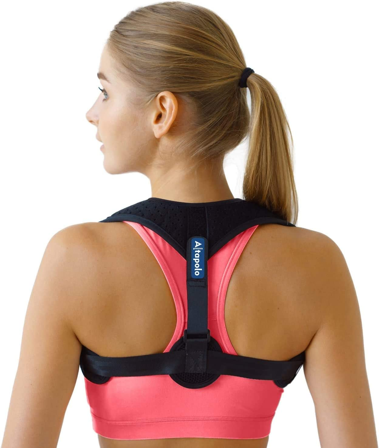 Posture Corrector for Men & Women - Adjustable Shoulder Posture Brace - Figure 8 Clavicle Brace for Posture Correction and Alignment