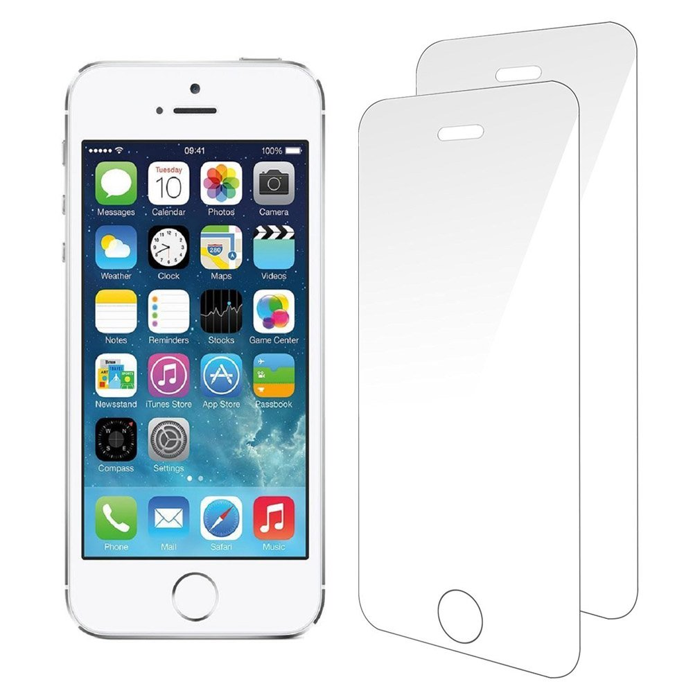 iPhone 5s Screen Protector, Foho [2-Pack] Premium Tempered Glass Screen Protector for Apple iPhone 5 5S 5C SE