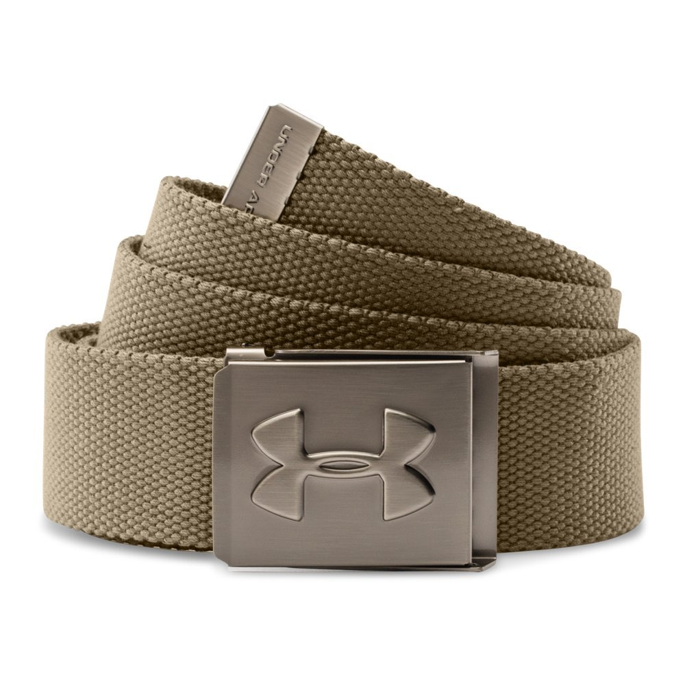 Under Armour Men's Webbed Belt, Canvas /Graphite, One Size by Under Armour