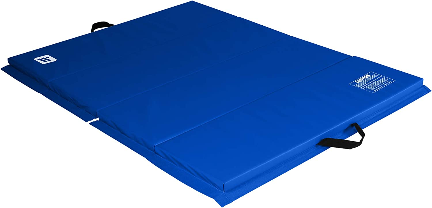 We Sell Mats 4 ft x 6 ft x 2 in Personal Fitness & Exercise Mat, Lightweight and Folds for Carrying
