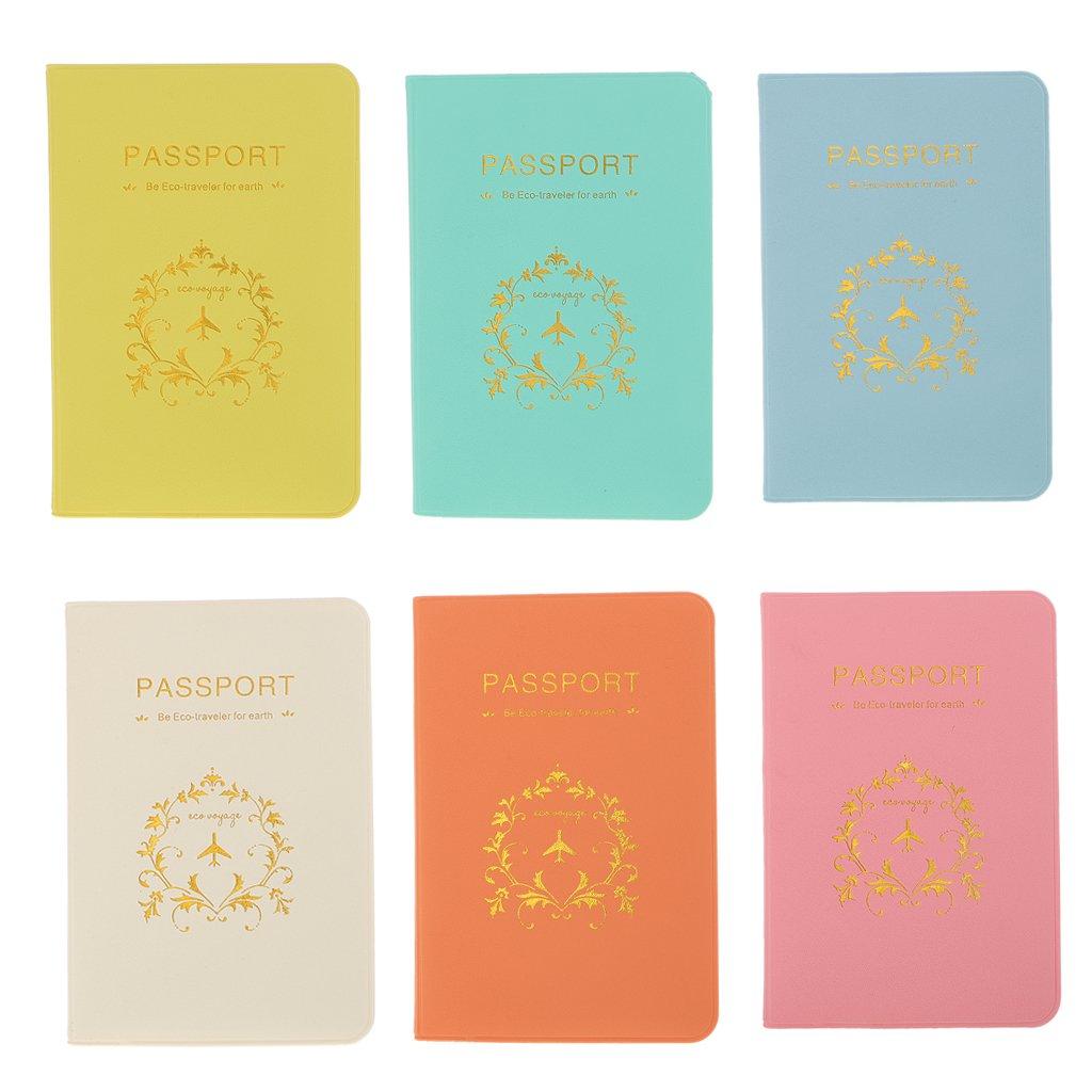 Rose Porte-organisateur de Cartes en PU Cuir Accessoires de Voyage Prot/ège-Passeport