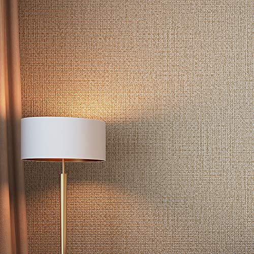 Linen Wallpaper Weave - 6704 Faux Linen Weave Texture Wallpaper Khaki Bedroom Living Room Cafe Wall Decoration Wall Paper 20.8in×32.8ft