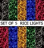 Honestystore® Rice Light 24 ft. multicolor (set of 5)