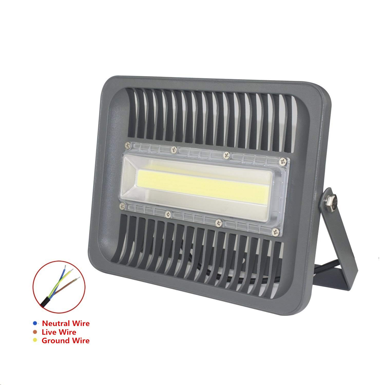 Asign 100w Led Cob Outdoor Flood Lights Super Bright Work Wiring A House 10000lm 500w Halogen Bulb Equivalent 6000k Daylight White Ip66 Waterproof Security Light