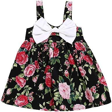 Julhold Toddler - Vestido para recién Nacido, sin Mangas, con ...