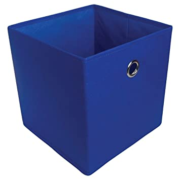 Room Essentials Fabric Cube Storage Bin Royal Blue