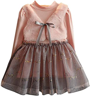 Day8 Fille 2 A 7 Ans Vetement Robe Princesse A La Mode Hiver Robe De Soiree
