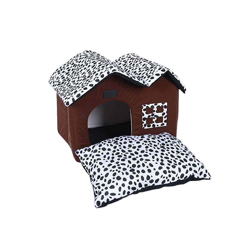 Kennel Spot Double Top Pet House Kennel Teddy House Pet Dog Mat Detachable
