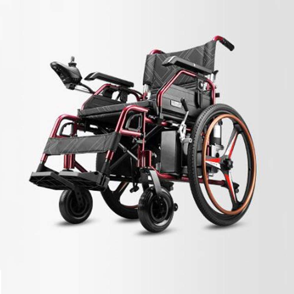 TWL-Wheelchair Silla de Ruedas Eléctrica Empuje a Mano/Eléctrico Convencional Tipo de Plegable Conmutable Anciano Discapacitado Silla de Ruedas de Viaje