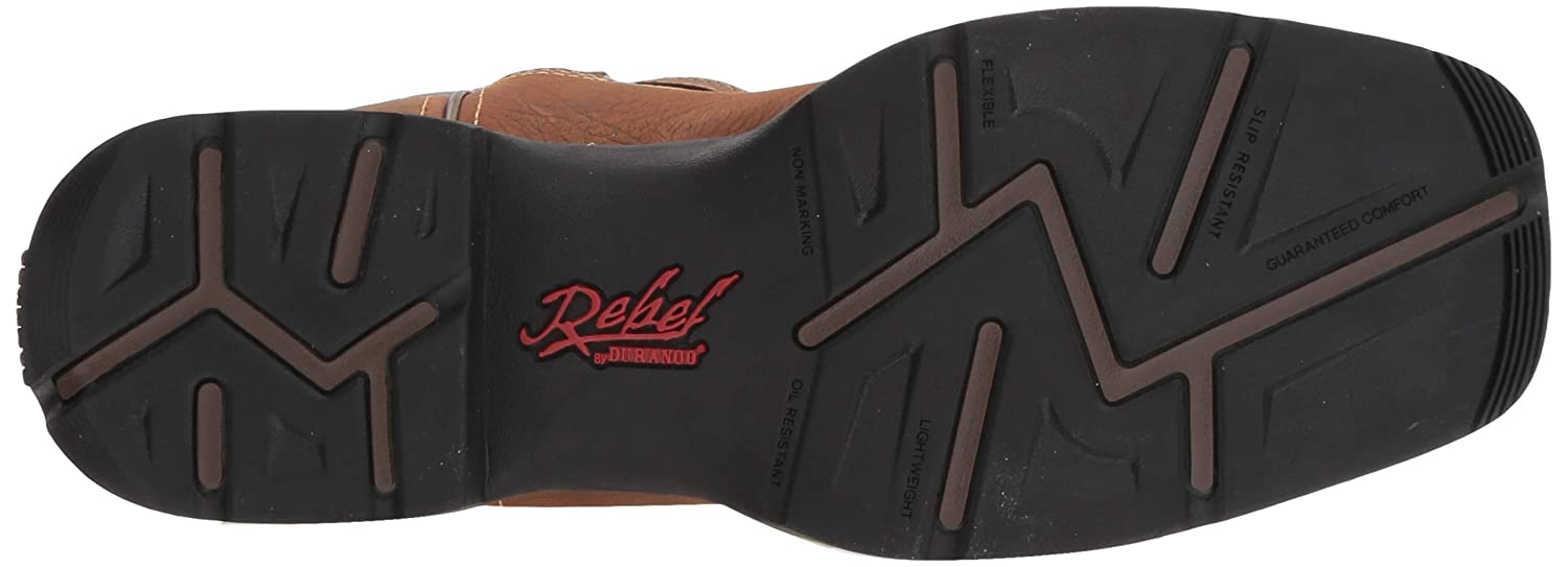 Durango Mens Rebel Pull-On Western Boot Wide Square Toe