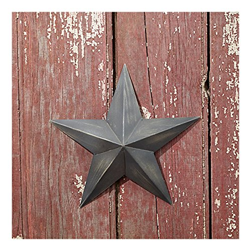 Country house vintage style indoor hanging metal barn star 9